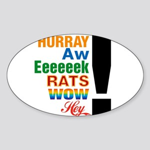 Interjections! Oval Sticker