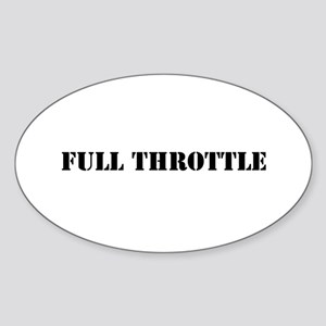 Full Throttle Sticker (Oval)