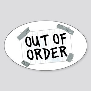 Out of Order Sticker (Oval)