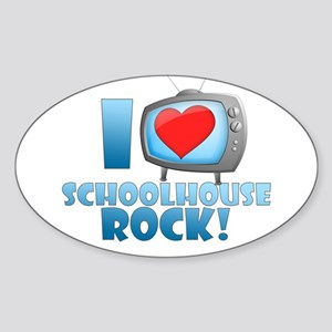 I Heart Schoolhouse Rock Sticker (Oval)
