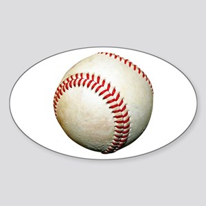 A Baseball Sticker (Oval)