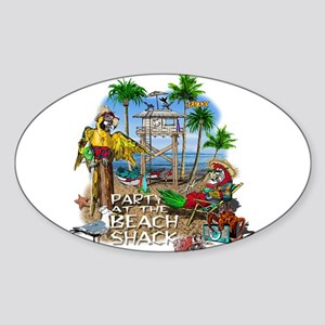 Parrots Beach Party Sticker (Oval)
