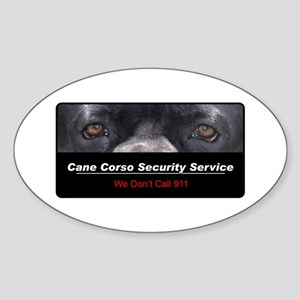 Cane Corso Security Service Sticker (Oval)