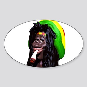 Rastaman Marijuana Caricature 3d Sticker