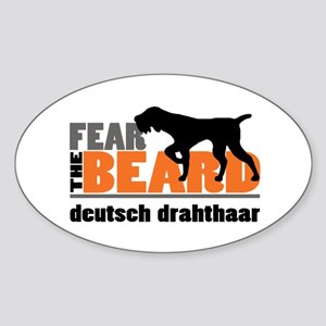 Fear the Beard - Deutsch Drahthaar Sticker (Oval)