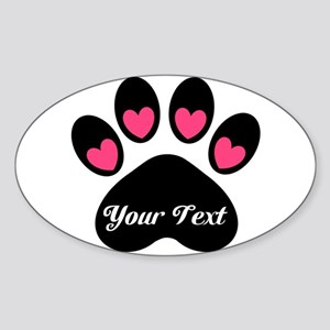 Personalizable Paw Print Sticker