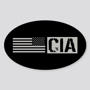 CIA: CIA (Black Flag) Sticker (Oval)