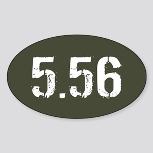 5.56 Ammo: Military Green Sticker (Oval)