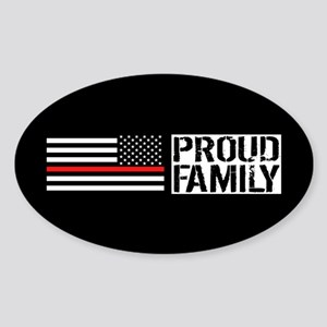Firefighter: Proud Family (Black Fl Sticker (Oval)