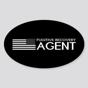 U.S. Flag & Fugitive Recovery Agent Sticker (Oval)