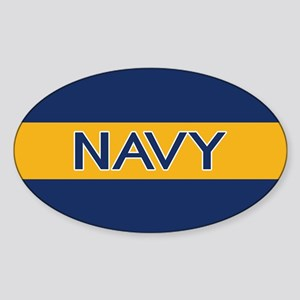 U.S. Navy: Navy (Gold Stripe) Sticker (Oval)