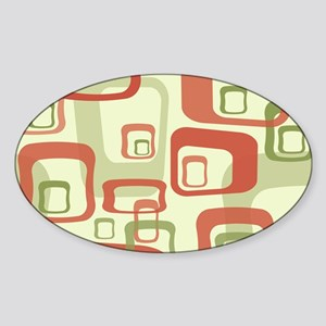 Mid Century Modern in Green and Red Sticker