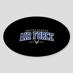 United States Air Force Athletic Sticker (Oval)