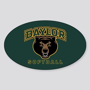Baylor Bears Softball Sticker (Oval)