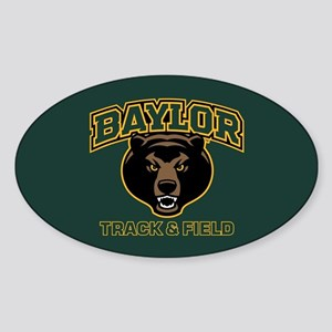 Baylor Bears Track Sticker (Oval)