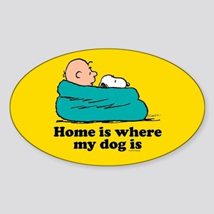 Snoopy - Home is where my dog is Full Blee Sticker