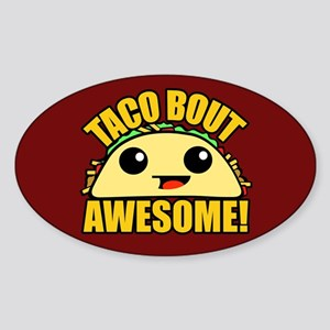 Taco Bout Awesome CB Sticker