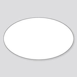 Bend Over Christmas Tree Sticker (Oval)