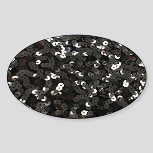 chic glitter black Sequins Sticker