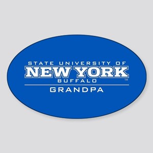 University at Buffalo Grandpa Sticker (Oval)