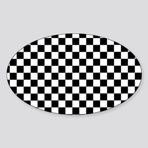 Black White Checkered Sticker