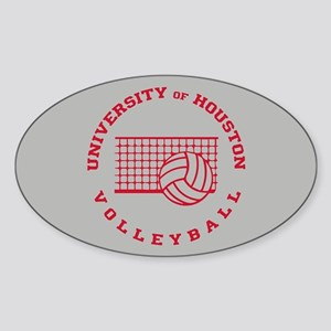 University of Houston Volleyball Sticker (Oval)