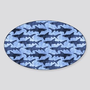 Sharks in the Blue Sea Sticker
