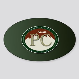 Park City Logo Medallion on Green Sticker