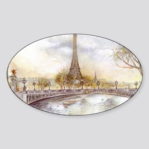 Eiffel Tower Painting Sticker