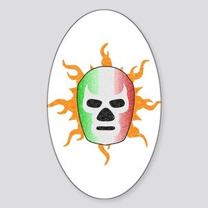 Mexican Lucha Libre Mask Sticker (Oval)