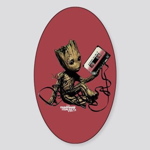 GOTG Groot Cassette Sticker (Oval)