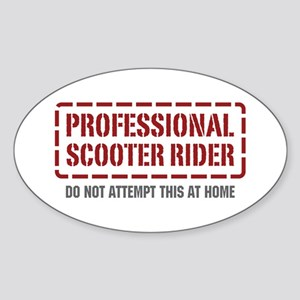 Professional Scooter Rider Oval Sticker