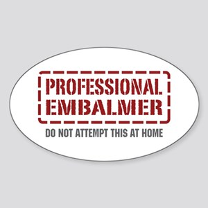 Professional Embalmer Oval Sticker