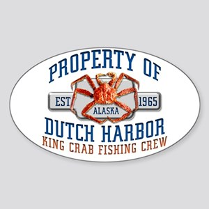 DUTCH HARBOR CRABBING Oval Sticker