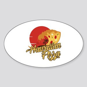 Hawaiian Pizza - Funny Beach Vacation Joke Sticker