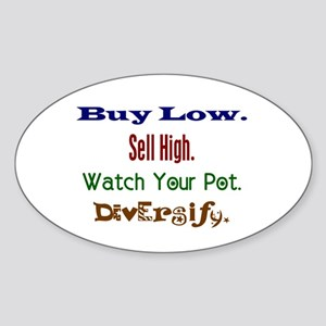 Buy Low Oval Sticker