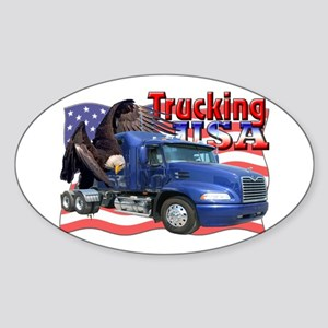 Trucking USA Oval Sticker