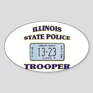 Illinois State Police Sticker (Oval)
