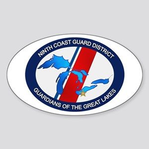 9th District USCG Oval Sticker