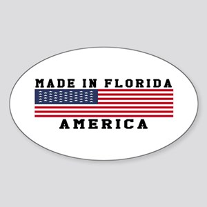 Made In Florida Sticker (Oval)