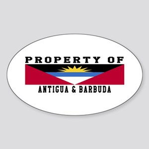 Property Of Antigua and Barbuda Sticker (Oval)