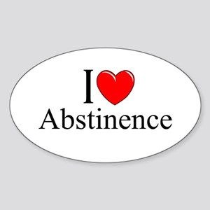 """I Love (Heart) Abstinence"" Oval Sticker"