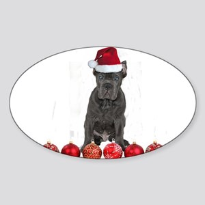 Christmas Cane Corso Puppy Sticker