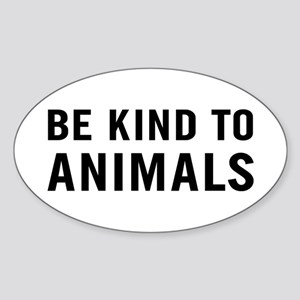 Be Animals Sticker (Oval)
