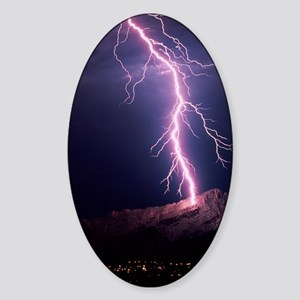 Lightning over Tucson Sticker (Oval)