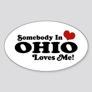 Somebody in Ohio Loves Me Oval Sticker