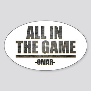 The Wire All in the Game Sticker (Oval)
