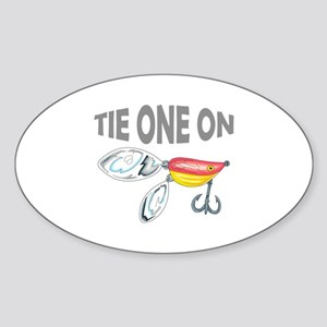 TIE ONE ON Sticker