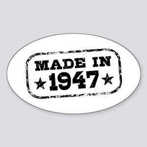 Made In 1947 Sticker (Oval)