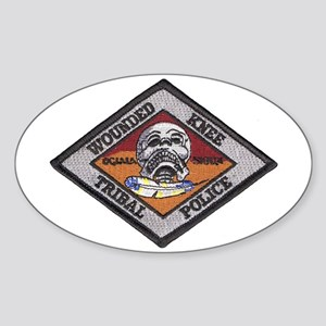 Wounded Knee Oval Sticker